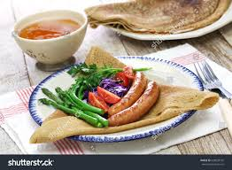 cuisine crepe galette du triangle buckwheat crepe stock photo 620839742