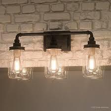 Luxury Industrial Bathroom Light 11 H X 21 5 W With Shabby Chic Shabby Chic Bathroom Light Fixtures