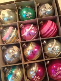 vintage glass blown indent ornaments x large 1 2 doz in