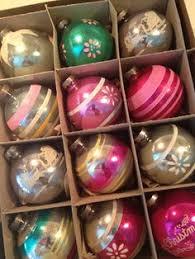 vintage tree glass pink shiny brite ornaments original