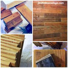 wood board wall fence board planked wall how to fox hollow cottage