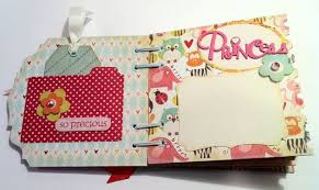 baby girl photo album new baby girl chipboard mini album my scrapper