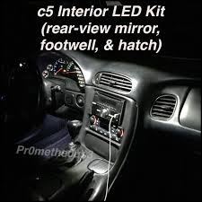 corvette c5 interior 1997 2004 c5 corvette interior n play led kit lights llc