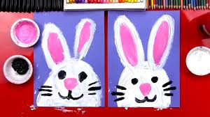 how to paint an easter bunny art for kids hub