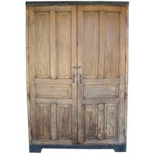 Furniture Armoire Wardrobe Antique Door Armoire Wardrobe Or Cabinet With Iron Banding For
