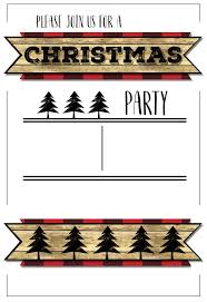 free printable christmas party invitation templates images