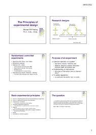 design of experiments michael festing the principles of experimental design