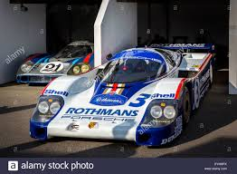 porsche rothmans 1982 porsche 956 with 1971 porsche 917 lh in paddock low drag le