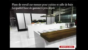 plan de travail de cuisine sur mesure plan de travail cuisine plan de cuisine fr