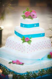 turquoise and pink wedding cake wedding pinterest wedding