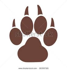lion print lion paw print stock images royalty free images vectors