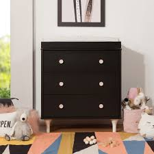 Babyletto Dresser Changing Table Babyletto Lolly Three Drawer Dresser With Removable Changing Tray