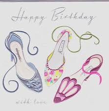 birthday cards with shoes shoes with birthday card karenza paperie