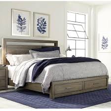 aspenhome modern loft queen panel storage bed with usb charging