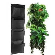globalbuy 4 pockets vertical wall garden planter wall mounted