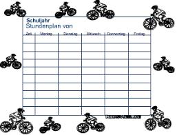 stundenplan designen stundenpläne im pdf format für kinder
