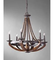 Iron And Wood Chandelier Feiss F2749 6ri Bwd Adan 6 Light 26 Inch Rustic Iron And Burnished