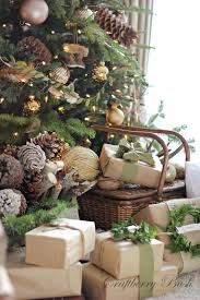 trim a home christmas decorations rustic brown paper packages with green trim christmas