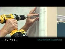 How To Install Sliding Shower Doors Sliding Shower Door Installation By Foremost