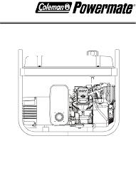 coleman portable generator pm0545005 user guide manualsonline com