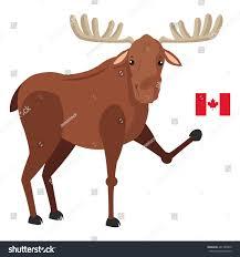 Single Flag Flat Design Single Moose Canadian Flag Stock Vector 461780440
