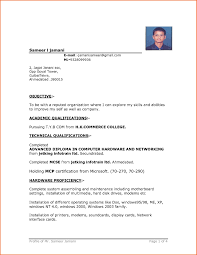 microsoft word resume template free simple resume format in ms word template