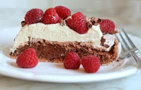 double chocolate pavlova marscapone whipped cream u0026 raspberries