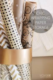 chic wrapping paper storage home made by carmona