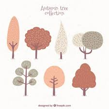 cute trees cute seven trees vector free download