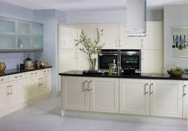 cream gloss shaker kitchen cabinets pinterest shaker kitchen