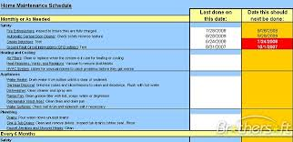Home Maintenance Spreadsheet by Free Home Maintenance Schedule Spreadsheet Home