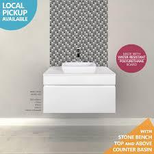 asti 750mm white gloss polyurethane wall hung bathroom vanity