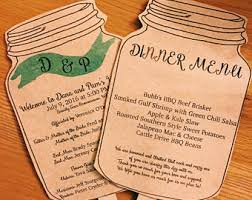 Mason Jar Wedding Programs Fan Mason Jar Etsy