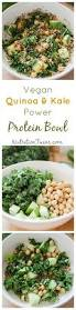 vegan quinoa u0026 kale power protein bowl nutrition twins