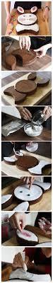 lapin de cuisine gâteau lapin de pâques au chocolat diy en images pas à pas