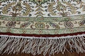 10 Round Rugs by Unique Gumbad Design Hand Knotted Pure Silk Red 10 U0027 Round Kasan