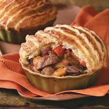 herbed beef stew with puff pastry recipe taste of home