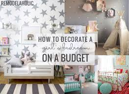 How To Decorate A Bedroom On A Budget by Sweet As Sugar Girls Room As Featured On Remodelaholic Postbox