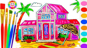barbie beach house coloring book educational drawing and