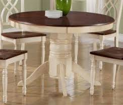 White Pedestal Table And Chairs Foter - Antique white pedestal dining table