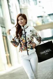 Womens Winter Coats Plus Size New Winter Jacket Slim Down Cotton Parkas Womens Flower Coats Plus