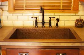 interior kitchen amazing hammered copper drop in kitchen sink