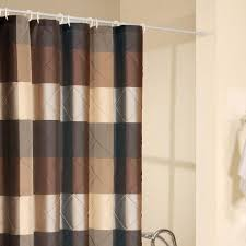 blue and brown shower curtain drapery curtain ideas