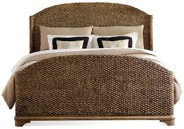queen woven seagrass bed by riverside furniture wolf and