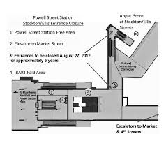 Sf Bart Map Pdf by Stockton And Ellis Entrance At Powell Street Station Closed For