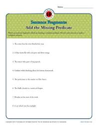 subject or predicate what u0027s missing printable worksheet