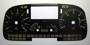mercedes dashboard clock mercedes atego and vario kmh to mph speedo meter clocks dials