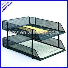 2014 best selling 4 tier office metal stackable desk letter tray