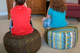 quilted bean bag pouf project u2014 sharon holland designs