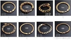 gold bracelet chain styles images 2018 2017 fashion classic man woman plated 18k gold bracelet flat jpg